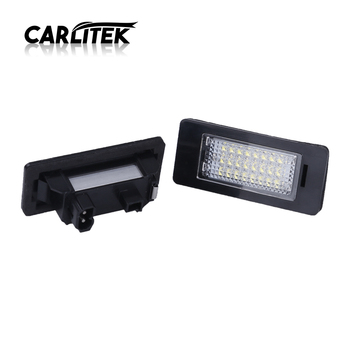 CARLitek LED License Plate Light White 24 Leds Plate Lamp for BMW E61 E60 E70 X5 E71 E88 E90 E92 E93 M3 E39 E39 M5 E82 image