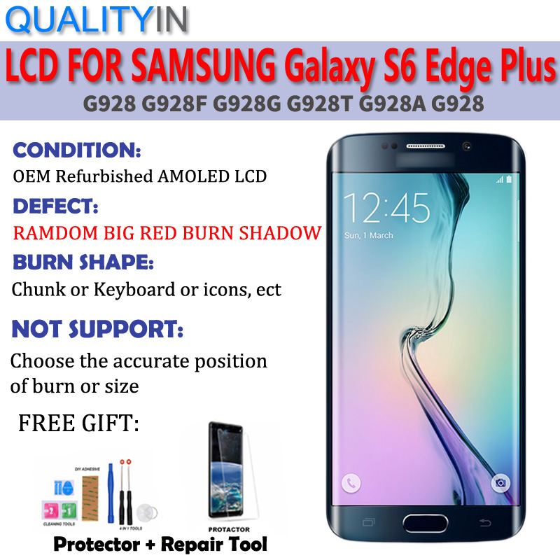 For Samsung Galaxy S6 Edge PLUS G928 Touch Screen Digitizer Sensor Big Red  Burn Shadow LCD Display Monitor Panel Module Assembly|Mobile Phone LCD  Screens| - AliExpress