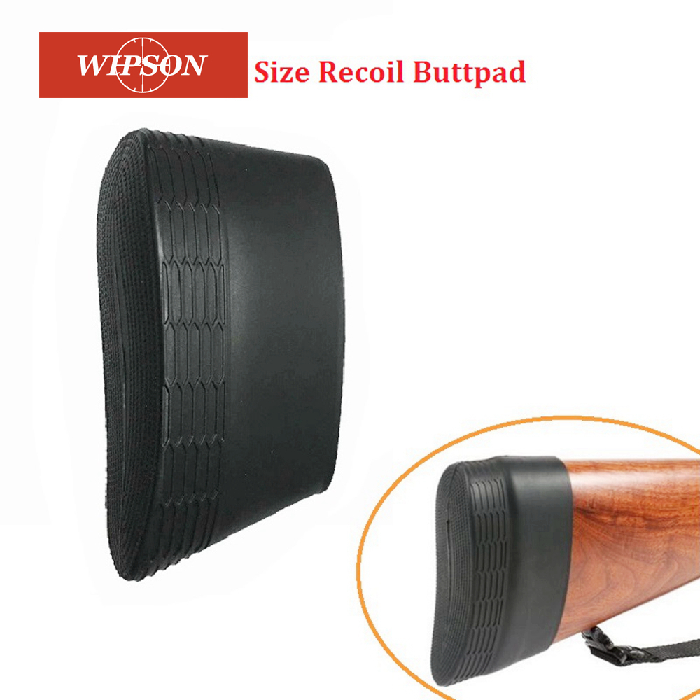WIPSON Big Size Hunting Tactical Silicone Rubber Slip-on Rifle Shotgun Recoil Butt Pad Buttpads Zwart