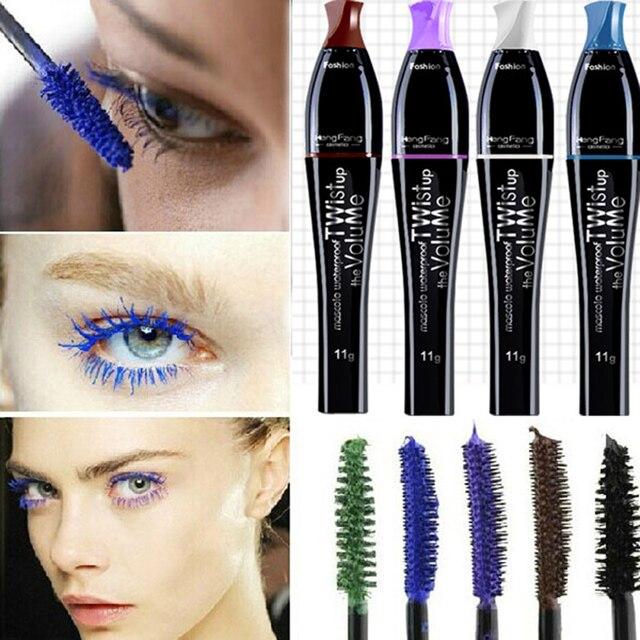 d399033e7ec Neverland 4 colors Volume Colourist Mascara Long Curling Beauty Eyelash  Waterproof Mascara Eye Lashes Wonderful Blue