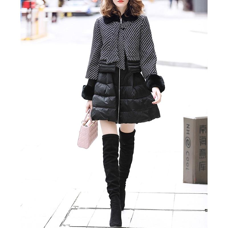 Veste 2018 Chaud Manteau Down Mode Femmes Black Épais Vers Le D'hiver Vestes De Bas I1qHwf