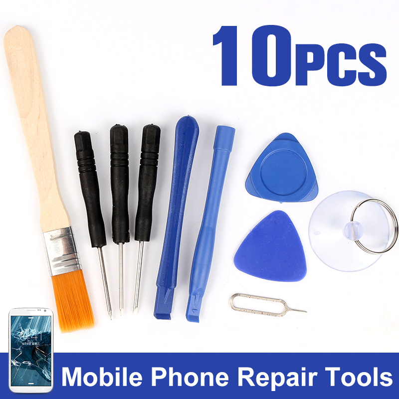 Smart Mobile Phone Repair Tools Kit Screwdriver Opening Pry Set Kits 9 in 1 Disassemble Tools for iPhone 6 5 5S for Samsung 8 in 1 practical repair opening tools set kit for ipad