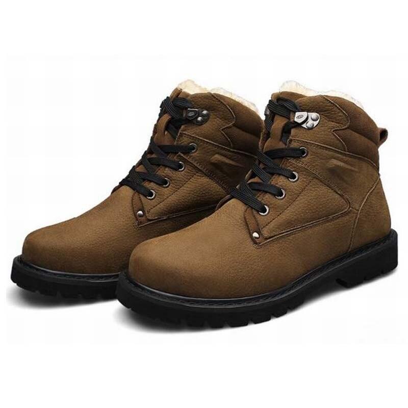 Winter Men's  Warm Desert Army Combat Snow Boots Men Military Hiking Tactical Boots Botas Hombre Coturnos Masculino shoes