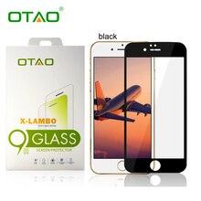 OTAO Розничный Пакет Полное Покрытие Закаленное Стекло Защитная Пленка Для Apple iPhone 6 6 S 2.5D 4.7 дюймов 0.35 мм 9 H-царапинам