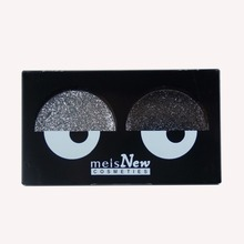 MEIS Brand Glitter Eye Shadow Professional Makeup 2 Colors Eyeshadow Palette Sxy Girl makeup pallete Shadow Palette MS 0262S