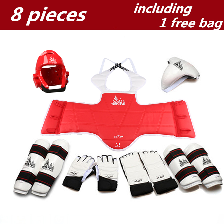8 Pcs Adult Children Thickening Taekwondo Protector Taekwondon Helmet Hand Foot Gloves Chest Shin Arm Groin Guard Head protector трусы 6style трусики стринги