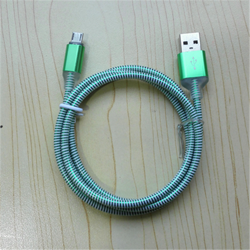 1 mt LED Elektrolumineszenz EL Nylon PVC Geflochtene V8 Micro USB ...
