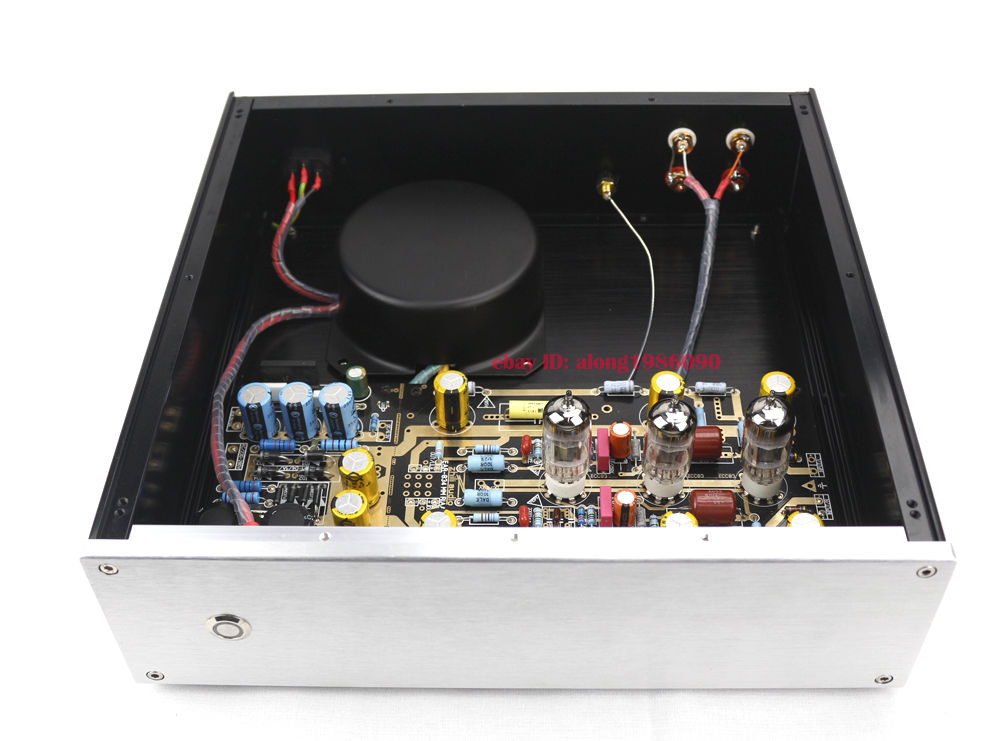 Finished MM RIAA Turntables Ear834 Tube Phono Amplifier (12AX7) + O Trannsformer tube mm phono stage amplifier board pcba ear834 circuit vinyl lp amp no including 12ax7 tubes riaa hifi audio diy free shipping