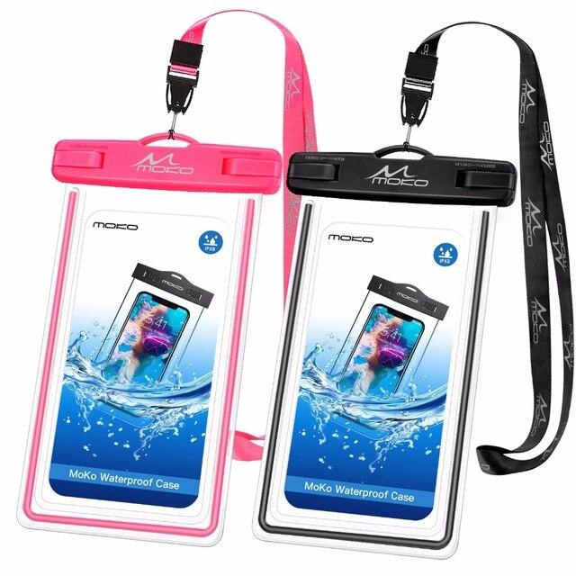 MoKo водонепроницаемый чехол для телефона [2 шт], Универсальный Водонепроницаемый Чехол для сотового телефона сухой мешок с обратный зонт для iPhone X/8 Plus/8