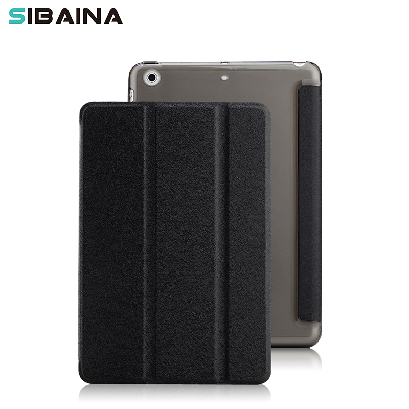 For iPad mini case , Slim Silk Folding Stand Smart Cover Case Protective Leather Case for iPad Air 1 2 Tablet Funda Case Capa 2017 silicon slim soft tablet case for ipad air 1 rubble protective funda cover for apple ipad air 1 2 for ipad 5 6 case capa