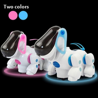 Smart Robot Electronic Walking Pet Educational Toy Cute Patrol Dog Puppy with Music Light for Children Kids Gifts