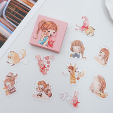 40 pcs/lot Cute Pink girl Mini Sticker Decoration DIY Diary Planner Scrapbooking Stickers kawaii label stickers Stationery