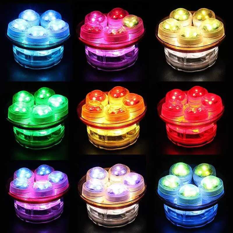 10pcs Fairy Wedding Decoration Waterproof Submersible LED Tea Mini Lights With Battery Christmas Party Halloween Room Vase Lamp