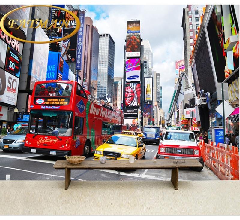 Fototapete Times Square New York Tapete 3d Wallpaper Wandbild Wohnzimmer TV Hintergrundbild Papel