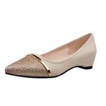 bd4bd13a4 Senhoras Nova Chegada Sapatas Das Mulheres Escavar Sapatos de Salto Moda  Rasa Dedo Apontado Sapatos de Salto Baixo Sapatos Casua.