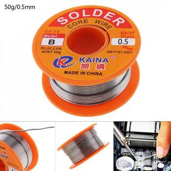 a86cb56011f Nueva 50g 63/37 estaño fino núcleo de alambre 0,5mm 2% Flux Reel línea de  soldadura Alambre de soldadura para productos electrónicos mantenimiento