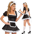 Uniform temptation Sexy puff Slim waist Black maid outfit AF168