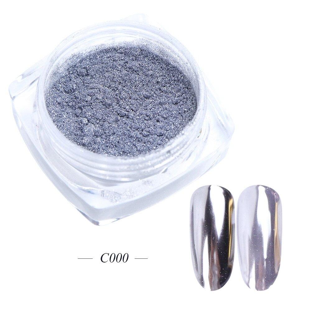 Зеркальный лак для ногтей, порошковая голографическая металлическая розовые, золотые, серебряные пылезащитные блестки, УФ-гель для ногтей, хромированное пигментное украшение CHC/ASX - Цвет: C000