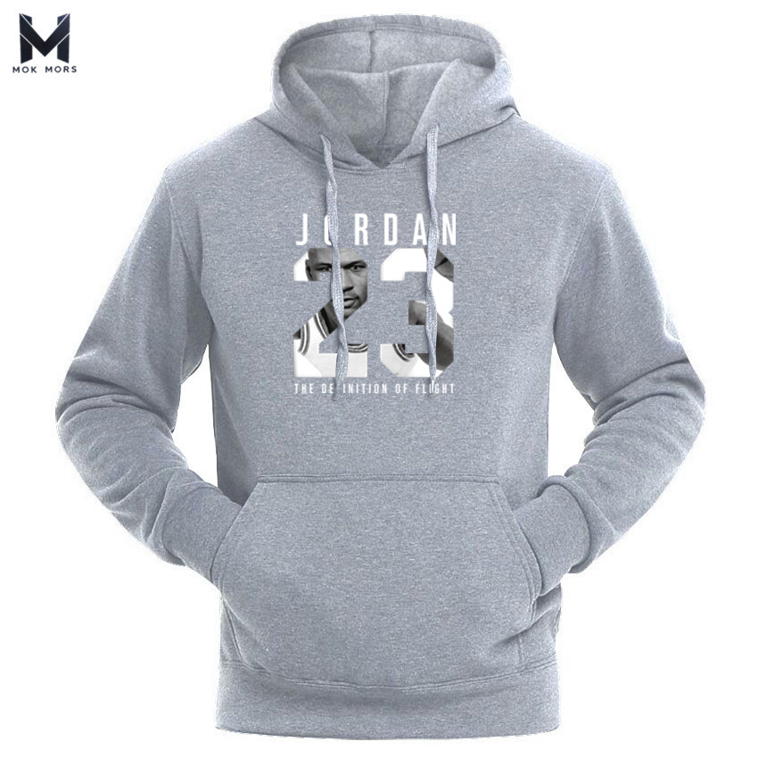 Hot 2019 New  23 Letter Print Sweatshirt Men Hoodies Fashion Solid Hoody Mens Pullover Mens Tracksuits Male Hoodie Coats