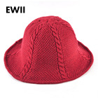 Wide brim hats for women winter wool hat fedora cappello ladies knitted sun cap women foldable striped floppy caps chapeau