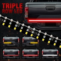 60 Inch Triple Row Truck Tailgate Led Strip Light Bar With Reverse Brake Turn Signal For Jeep Pickup Suv for Dodge