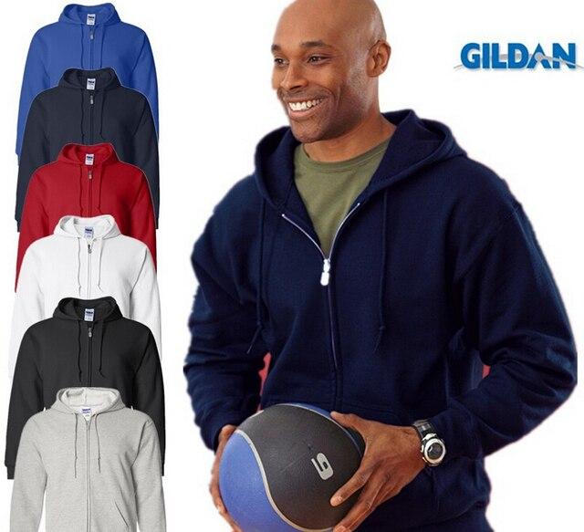 Gildan buena calidad marca sudaderas con capucha hombre