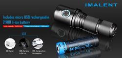 IMALENT DM70 مصباح يدوي 4500 لومينز بما في ذلك 21700 بطارية