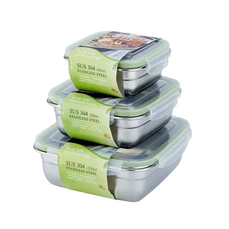 Portable  Stainless Steel Lunch Box Environmentally Sealed Food Storage Container Preservation Leak Proof Bento