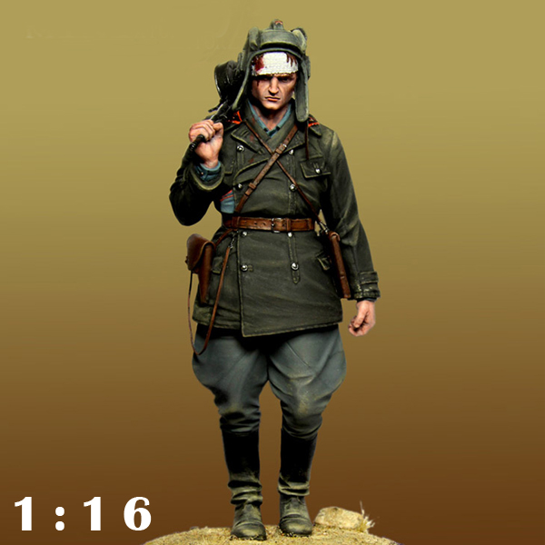 1/16 Resin kit soldier figures WW2 Soviet tank soldiers Unpainted and unassembled Free shipping 117G scale models 1 16 120mm soviet scout soldier ww2 120mm figure historical wwii resin model free shipping