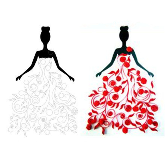 Photo Cards Decoration Paper Quilling Drawings Collection Diy Skirt