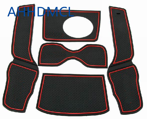 Car Anti-Dirty Pad Door Groove Gate Slot Cup Armrest Storage Mat For Kia Forte High Configuration 2009 2010 2011 2012 ~ 2016