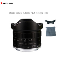 7 artisans 7.5mmF2.8 Super Wide Angle Fisheye Micro Single Lens For E-mount  Canon EOS-M Mount  FX Mount  M4/3 Mount Canon M1