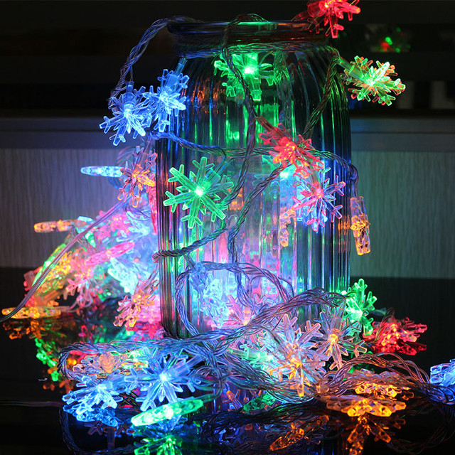 Aliexpress buy oobest christmas 5m 28 led small snowflake oobest christmas 5m 28 led small snowflake strip light tree pendant lights string light holiday decoration aloadofball Image collections