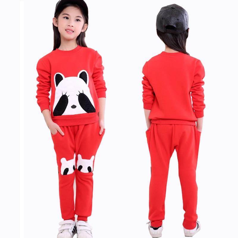 겨울 따뜻한 어린이 소녀 의류 세트 여자에 대 한 - 아동복