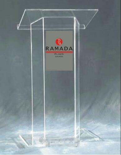 Free Shipping Modern Acrylic Podium With Clear Fixture Displays Acrylic Church Pulpit Surface Tubes Custom Podium Church Size