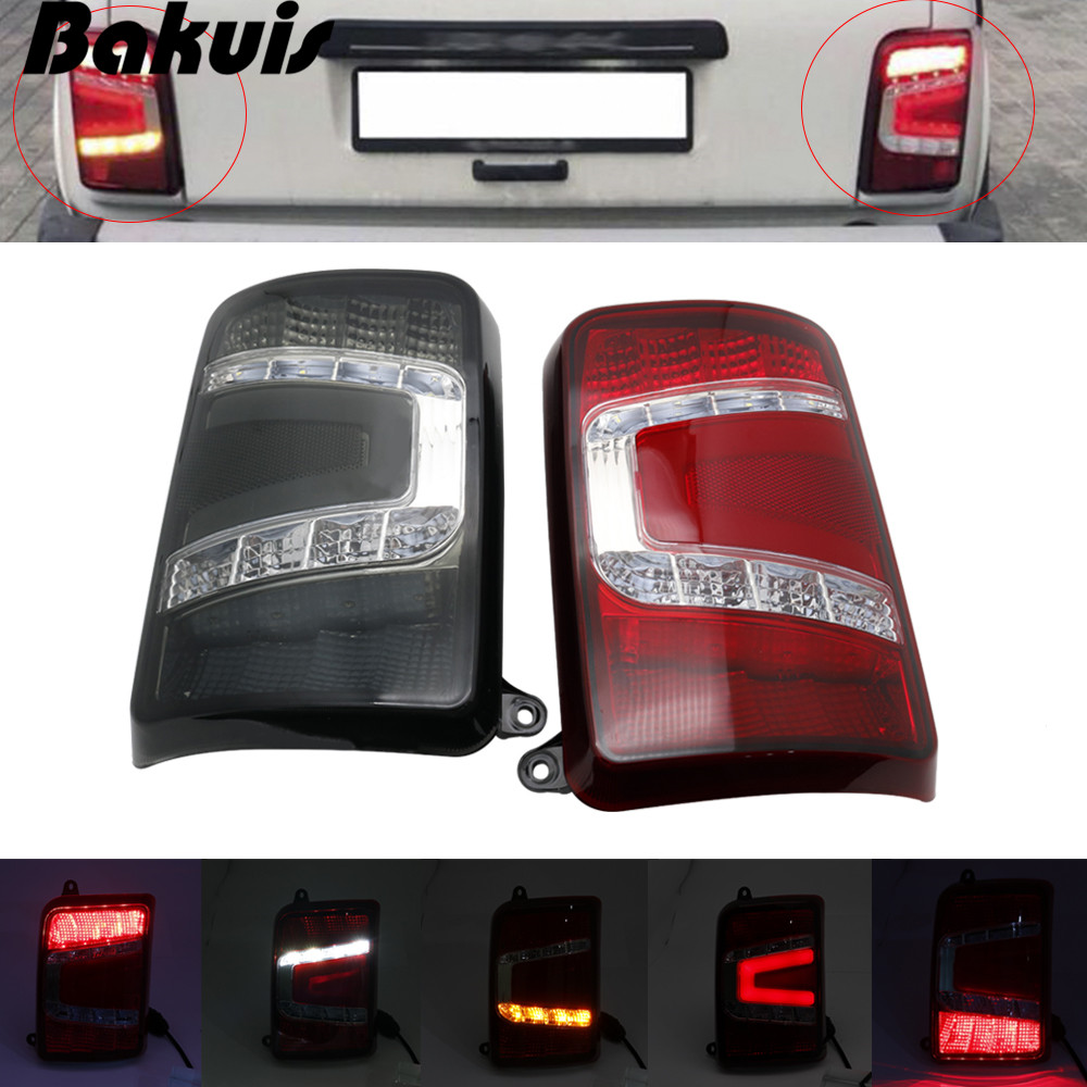 For Lada Niva 4X4 1995- LED tail lights with running turn signal PMMA / ABS plastic function accessories car styling tuning image