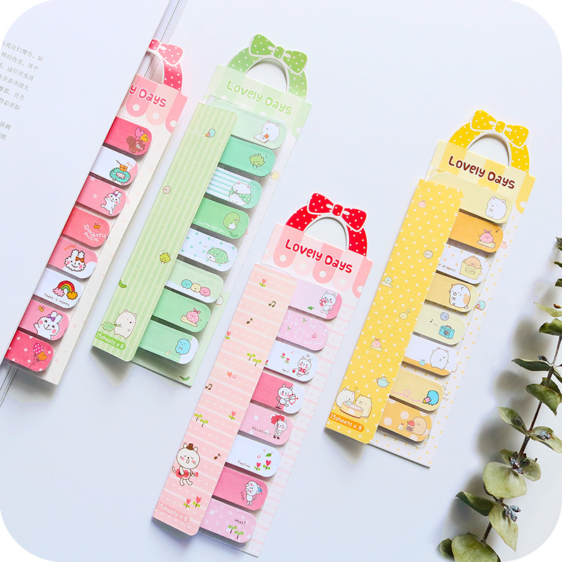 2Pcs/lot Lovely Cartoon Animal Memo Pad Post it Paper Stickers BookMarker Student Stationery School Office Supply Notepad