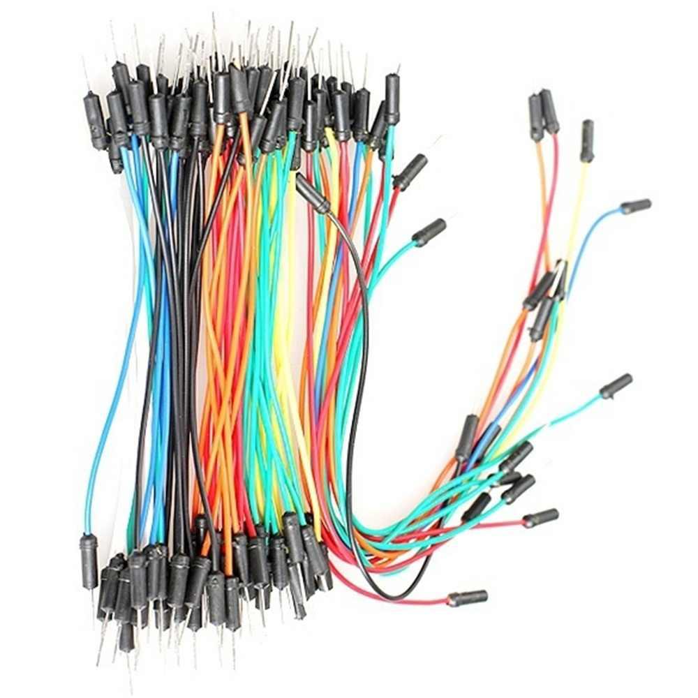 Высокое качество 65 шт. мужской и мужской Solderless Макет разъем перемычки провода кабеля