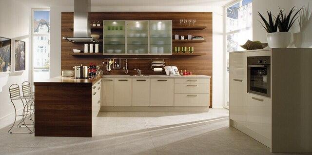 Laca muebles de cocina gabinete de cocina moderna blanco K009 en ...