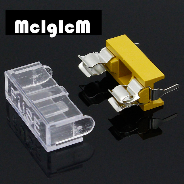 panel mount pcb fuse holder case w cover for glass fuse 5x20mm holder free  shipping