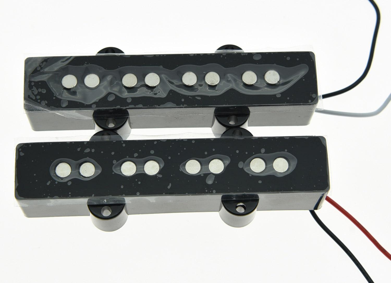 KAISH Black J Bass Neck Bridge Pickup Bass Pickups Set for 4 String Jazz Bass Guitar kmise different black 4 5 6 string bass guitar pickup humbucker for music man bass coil tap set of 3