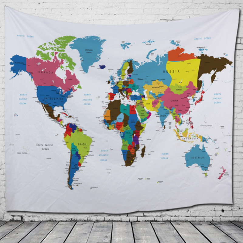US $18.35 |Polyester World Map Tapestry Colored Printed Decorative on highlighted map of india, abstract map of india, national geographic map of india, world map india, chinese map of india, plain map of india, colors of india, black and white map of india, transparent map of india, colored world map, large map of india, water map of india, labeled map of india, asian map of india, enlarged map of india, small map of india, full map of india, hindu kush map of india, elevation map of india, old map of india,