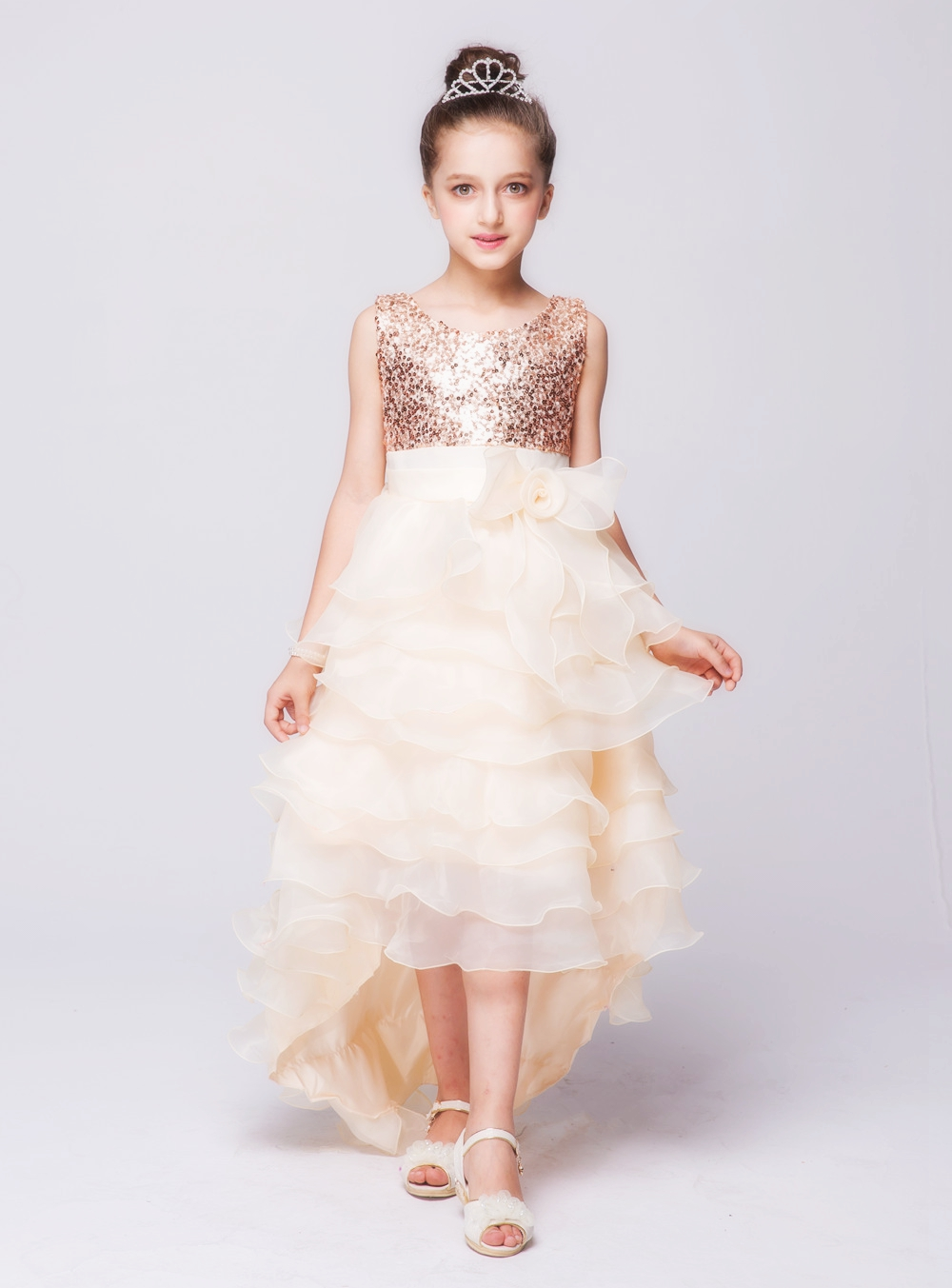 Summer Fashion Girls Dresses for Party Sequin Mullet Dress Wedding ...