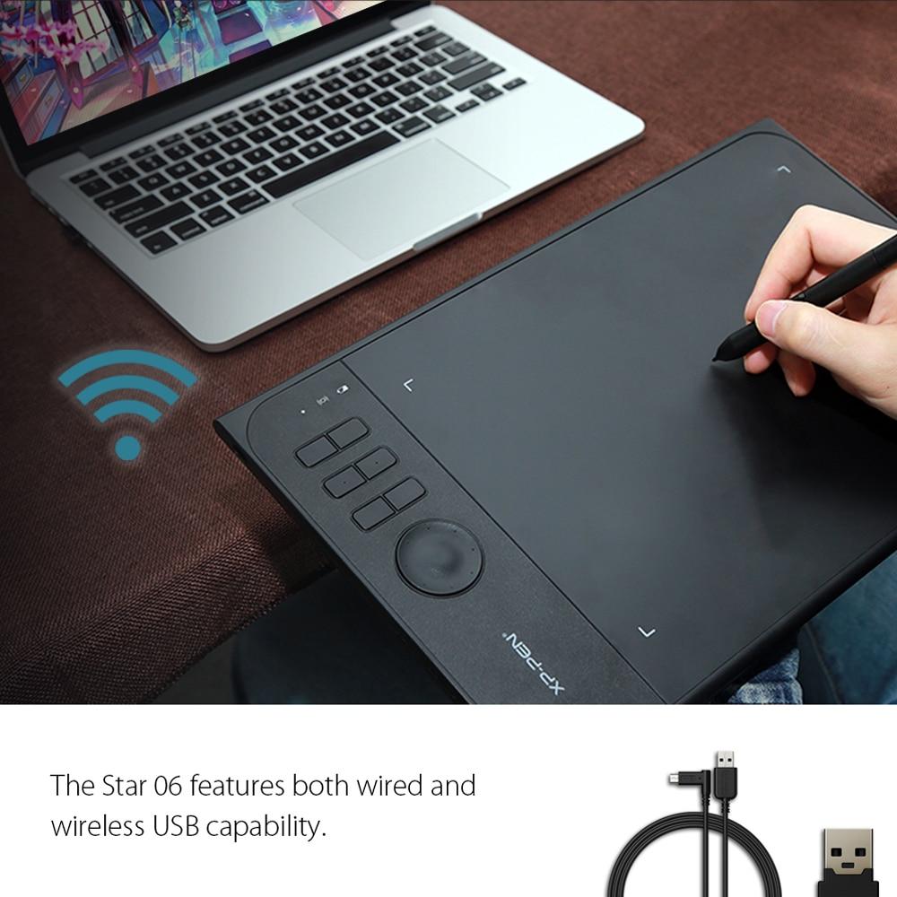 Nowy XP-Pen Star06 Bezprzewodowy tablet graficzny do rysowania tablic - Peryferia komputerowe - Zdjęcie 2
