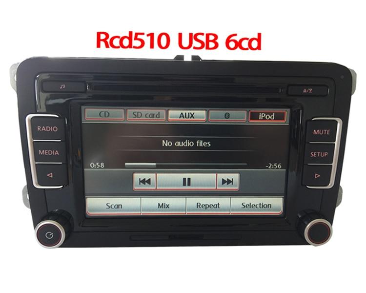 vw original 6cd player car radio rcd510 cd usb aux rvc. Black Bedroom Furniture Sets. Home Design Ideas