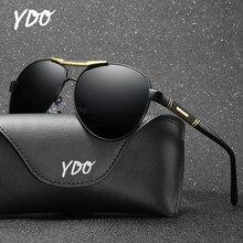 YDO UV400 High Quality Polarized Sunglasses Men Sun Glasses Pilot Designer Luxury Brand Aviation Retro Vintage Male