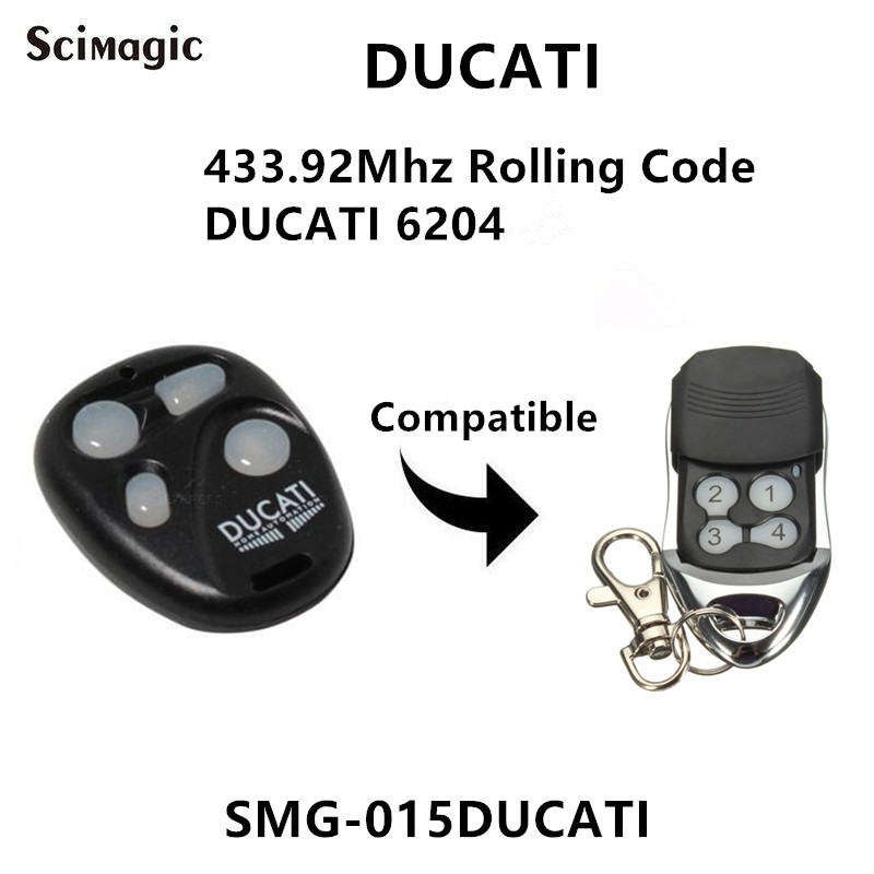 433.92mhz  DUCATI 6204 Rolling Coded 4 Buttons Gate Door Remote Control / Keyfob