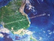 3D Earth Round Carpet Parlor Living Room Mats World Map