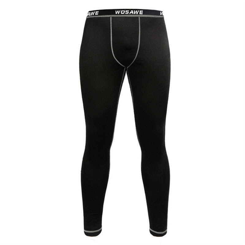 New Men Cycling Long Pants Autumn Early Winter Breathable Bike Riding Cycling Pants Full Length Black Red Compression Tights