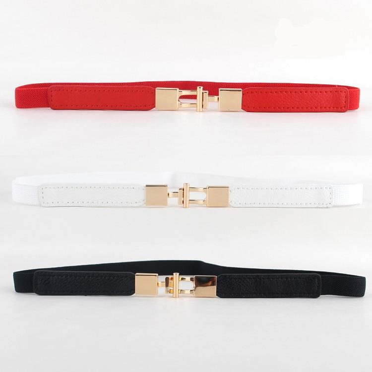 Red Thin Waistbands Women's Elastic Waistband Black Fashion Dress Decorate Belt White Small Cummerbunds Cute Design Girl Gifts